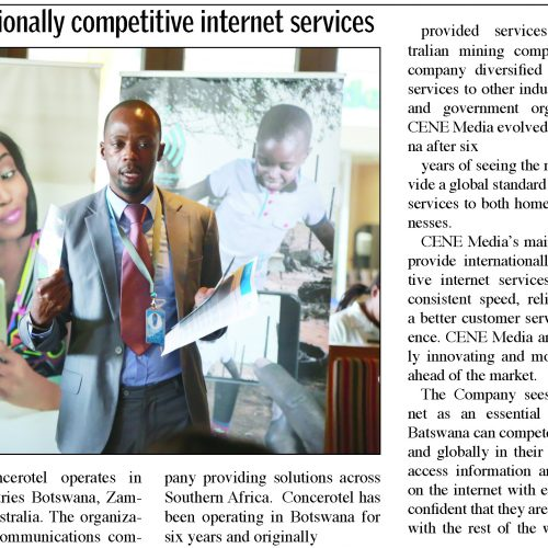 Faster internet hotspots in Gaborone